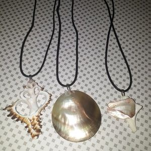 3pc handmade shell necklaces